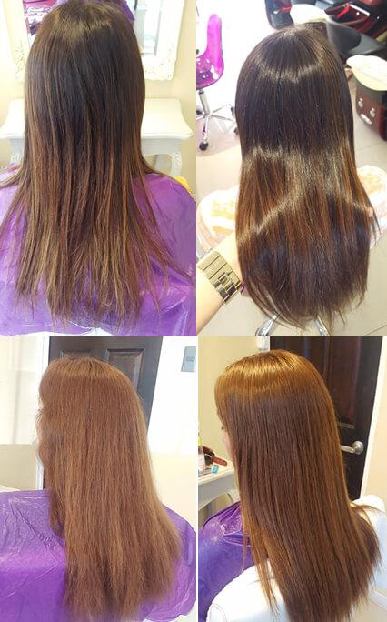 El aparato para la reconstitución de los cabello s.care